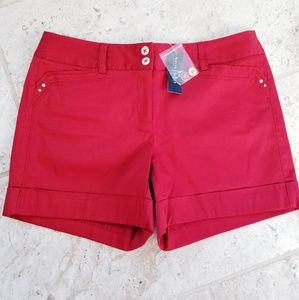 "WHBM 5"" Dark Red Shorts"